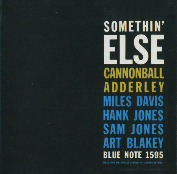 Adderley, Cannonball Somethin' Else (RVG Edition) CD