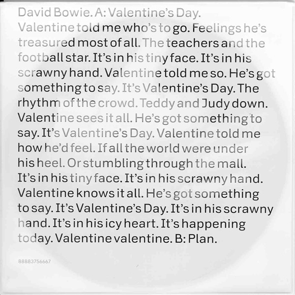 Bowie, David Valentine's Day