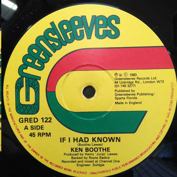 Ken Boothe If I Had Known Vinyl