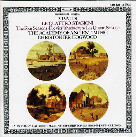 Vivaldi - Christopher Hogwood, Alison Bury, Catherine Mackintosh, Christopher Hirons, John Holloway Le Quattro Stagioni Vinyl