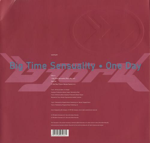 Bjork Big Time Sensuality / One Day Vinyl