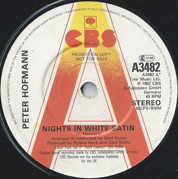 Hofmann, Peter Nights In White Satin Vinyl