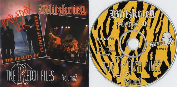 Paradox U.K. / Blitzkrieg The Retch Files Volume 2 CD
