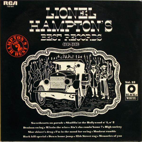 Hampton, Lionel Lionel Hampton's Best Records (1938-1939) Vinyl