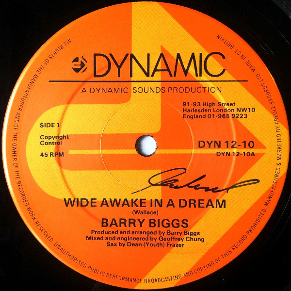 Barry Biggs Wide Awake In A Dream Vinyl