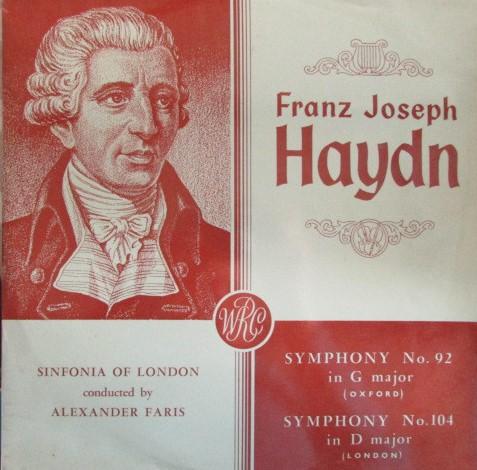 Haydn - Alexander Faris Symphony No. 92 in G major / Symphony No. 104 in D major Vinyl