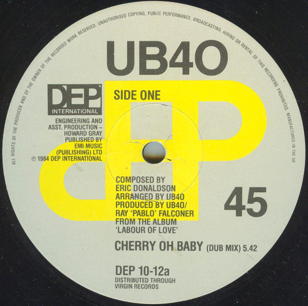 UB40 Cherry Oh Baby (Dub Mix)