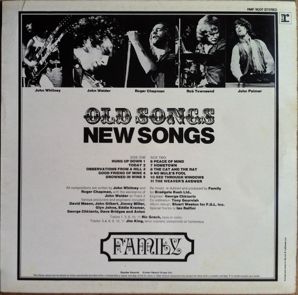 Family Old Songs New Songs Vinyl