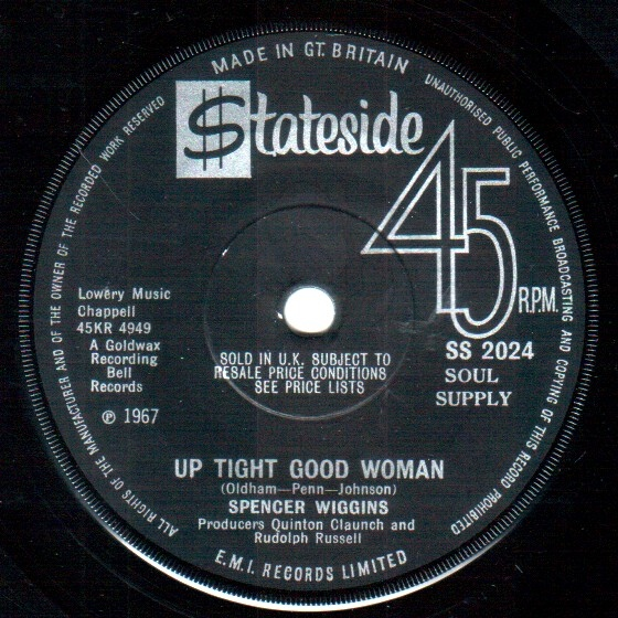 Wiggins, Spencer Up Tight Good Woman  Vinyl