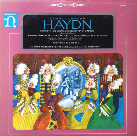 Haydn - Karl Ristenpart Concerto for Organ and Orchestra in C major / Sinfonia Concertante for Violin, Cello, Oboe, Bassoon and Orchestra / Nocturnes in C and G Vinyl