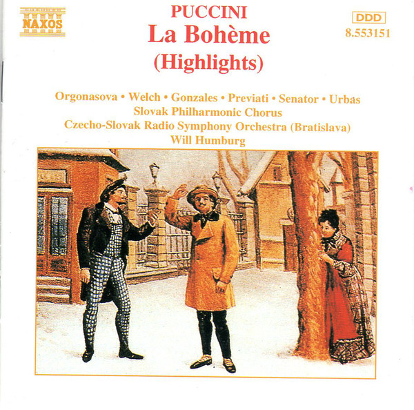 Puccini - Orgonasova, Welch, Gonzales, Previati, Senator, Urbas, Will Humburg La Boheme Vinyl