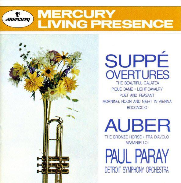 Suppé / Auber - Paul Paray, Detroit Symphony Orchestra Overtures