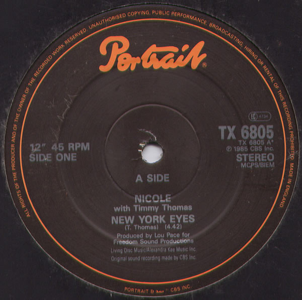 Nicole New York Eyes Vinyl