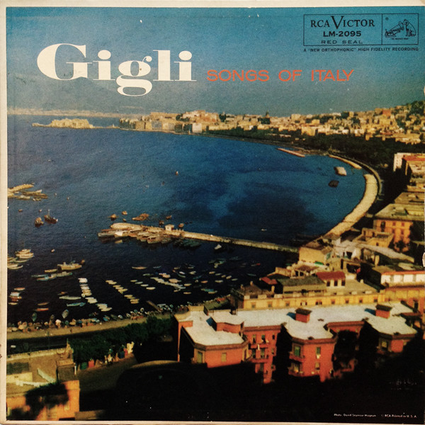 Gigli, Beniamino Songs Of Italy