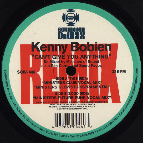 Bobien, Kenny Can't Give You Anything (Remix)
