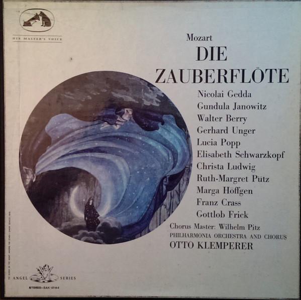 Mozart - Gedda, Janowitz, Berry, Unger, Popp, Schwarzkopf, Ludwig, Putz, Hoffgen, Crass, Frick, Otto Klemperer Die Zauberflote Vinyl