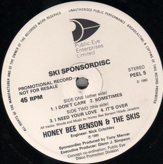 Benson, Honey Bee & The Ski's Ski Sponsor-Disc