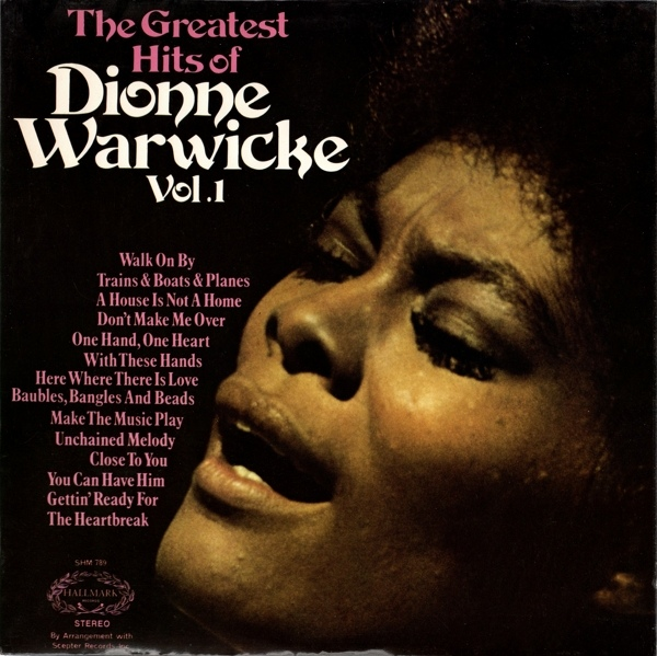 Warwicke, Dionne The Greatest Hits Of Dionne Warwicke Vol. 1 Vinyl