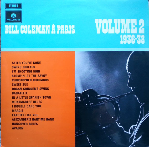 Coleman, Bill Bill Coleman A Paris 1936-38 Volume 2 Vinyl
