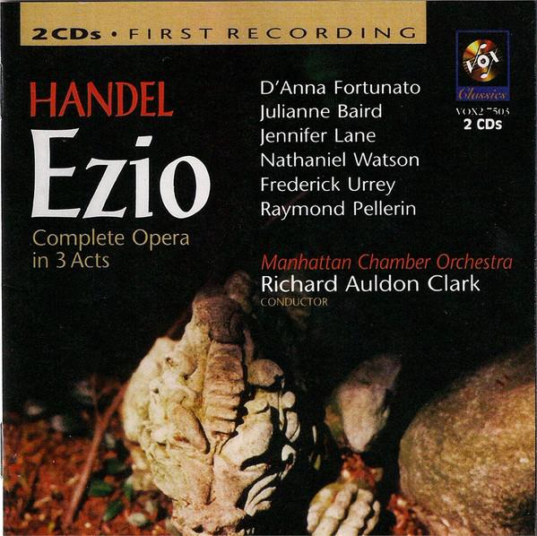 Handel, Manhattan Chamber Orchestra Handel Ezio