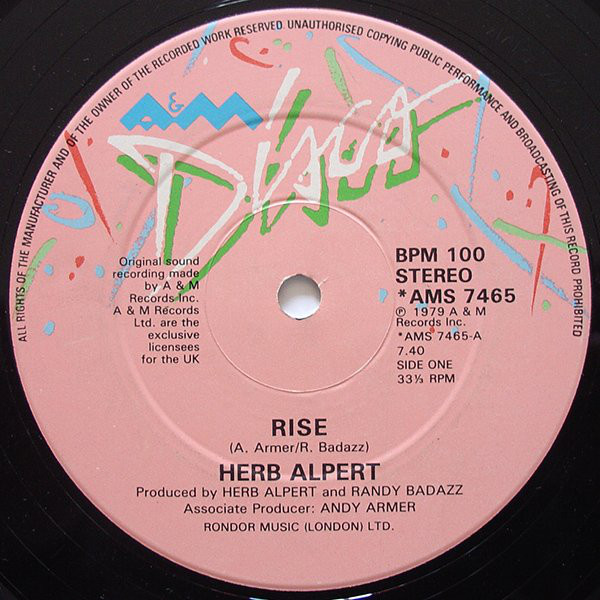 Herb Alpert Rise Vinyl