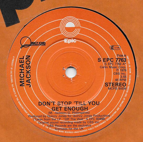 Michael Jackson Don't Stop 'Til You Get Enough Vinyl