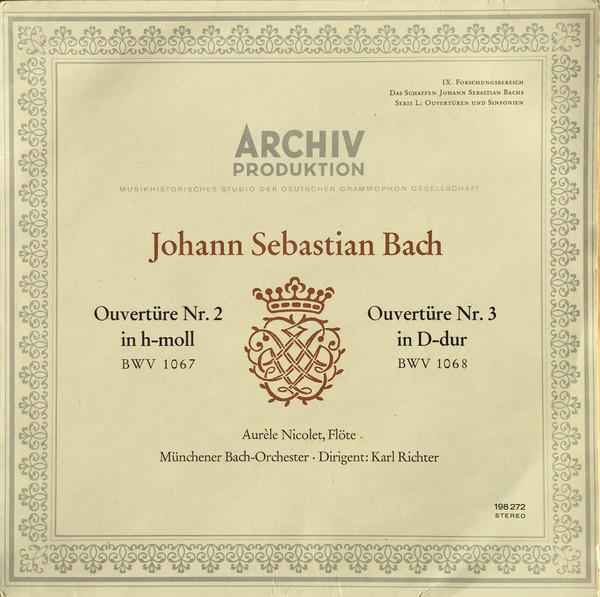Bach - Aurele Nicolet, Karl Richter Overture No. 2 / Overture No. 3 Vinyl