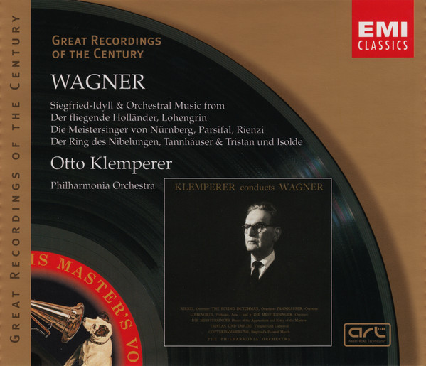 Wagner, Klemperer Orchestral Music CD