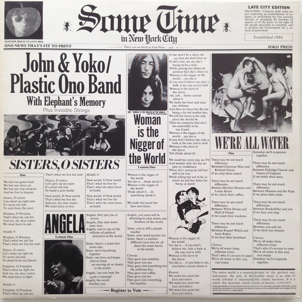 John & Yoko / Plastic Ono Band With Elephant's Memory And Invisible Strings Some Time In New York City