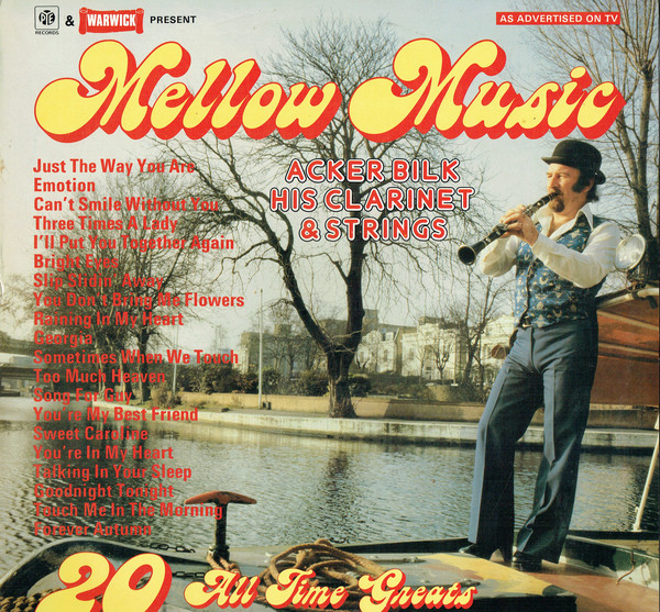 Acker Bilk His Clarinet & Strings Mellow Music Vinyl