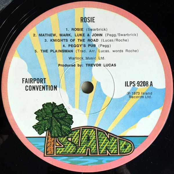 Fairport Convention Rosie Vinyl