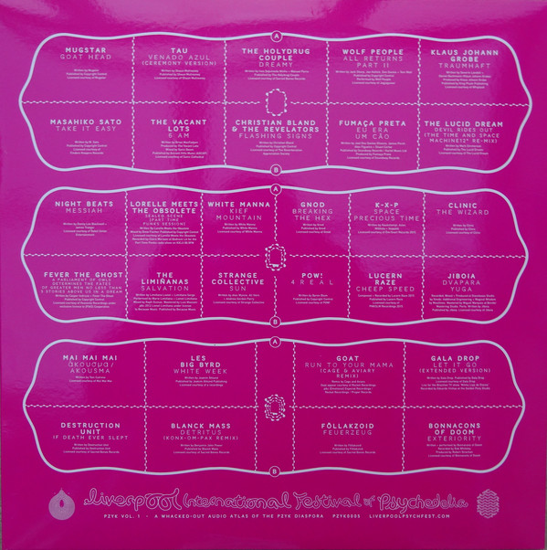 Various LIverpool International Festival Of Psychedelia: PZYK Vol. 1 Vinyl