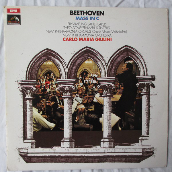 Beethoven - Ameling, Baker, Altmeyer, Rintzler, Pitz, Carlo Maria Giulini Mass In C Vinyl