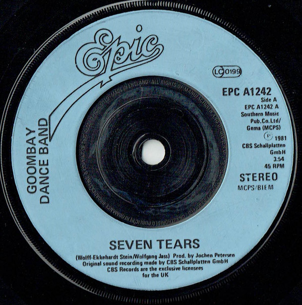 Goombay Dance Band Seven Tears Vinyl