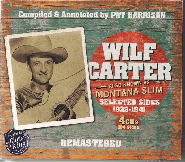 Carter, Wilf Selected Sides 1933-1941 CD