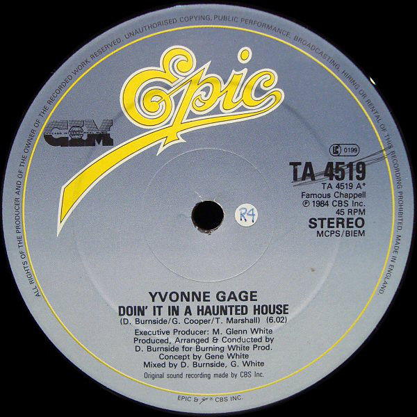 Gage, Yvonne Doin' It In A Haunted House Vinyl