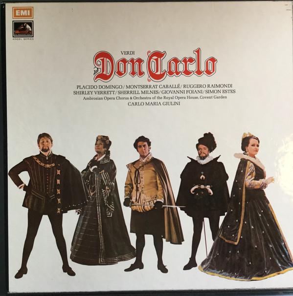 Verdi - Domingo, Caballe, Raimondi, Verrett, Milnes, Foiani, Estes, Carlo Maria Giulini Don Carlo Vinyl