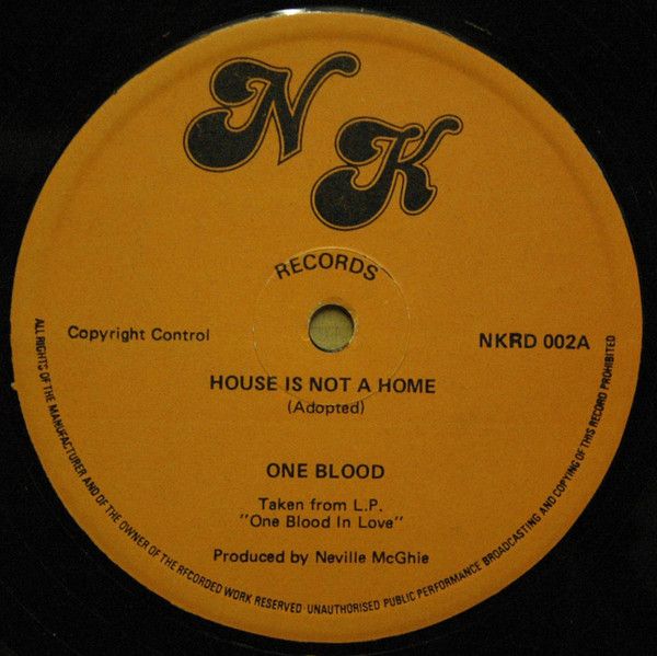 One Blood House Is Not A Home Vinyl