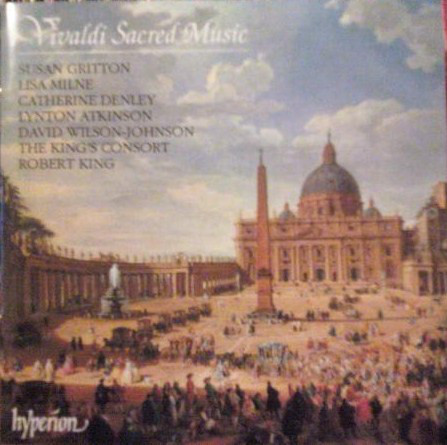 Vivaldi - Susan Gritton, Lisa Milne, Catherine Denley, Lynton Atkinson, David Wilson-Johnson, The King's Consort, Robert King Sacred Music Vinyl