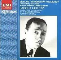 Sibelius / Tchaikovsky / Glazunov - Jascha Heifetz, Thomas Beecham, John Barbirolli Violin Concertos