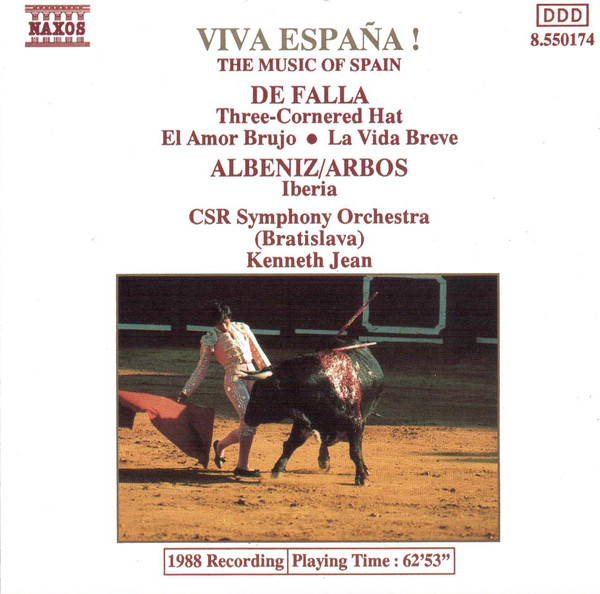Falla / Albeniz/Arbos - Kenneth Jean Music Of Spain - Viva Espana! CD