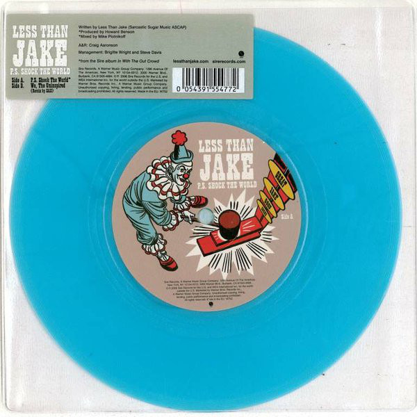 Less Than Jake P.S. Shock The World Vinyl