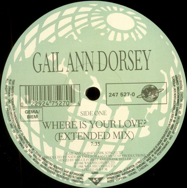Dorsey, Gail Ann Where Is Your Love?