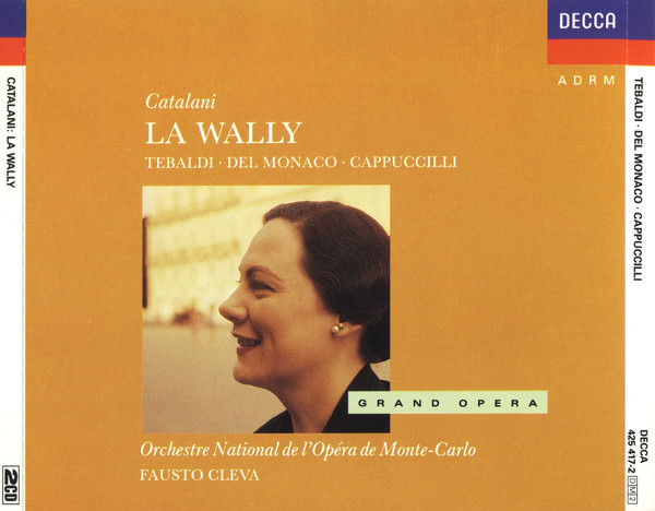 Catalani - Tebaldi, Del Monaco, Cappuccilli La Wally Vinyl
