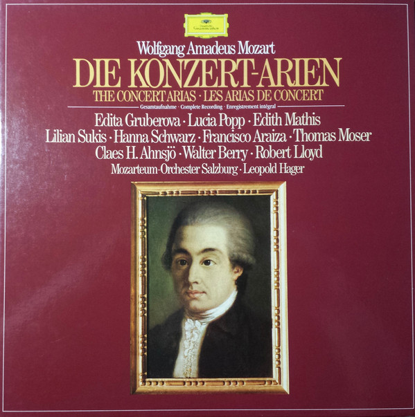 Mozart - Gruberova, Popp, Mathis, Sukis, Schwarz, Araiza, Moser, Ahnsjo, Berry, Lloyd, Leopold Hager Die Konzert-Arien Vinyl