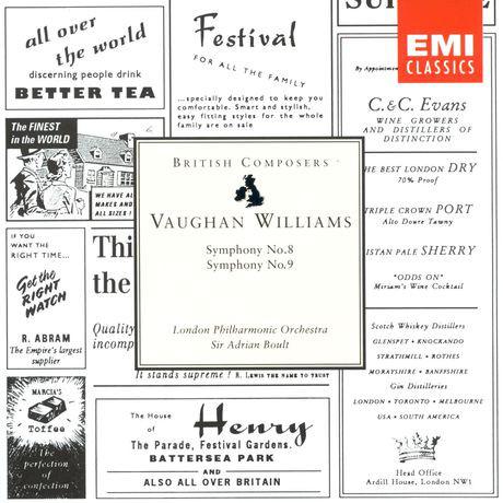 Williams - Sir Adrian Boult, London Philharmonic Orchestra Symphony No. 8 / Symphony No. 9
