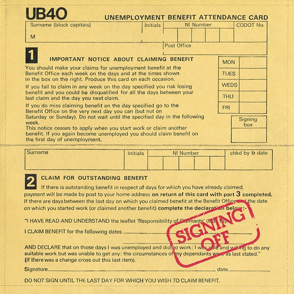 UB40 Signing Off