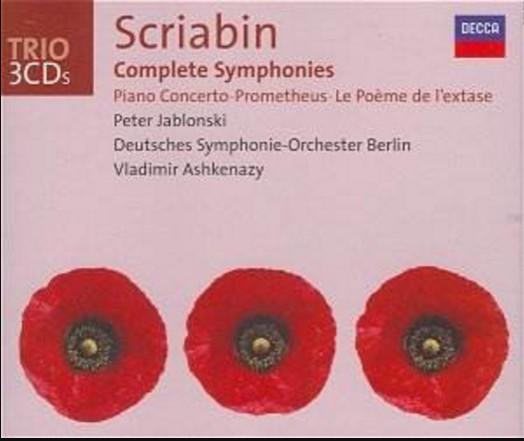 Scriabin - Peter Jablonski, Vladimir Ashkenazy Complete Symphonies Vinyl