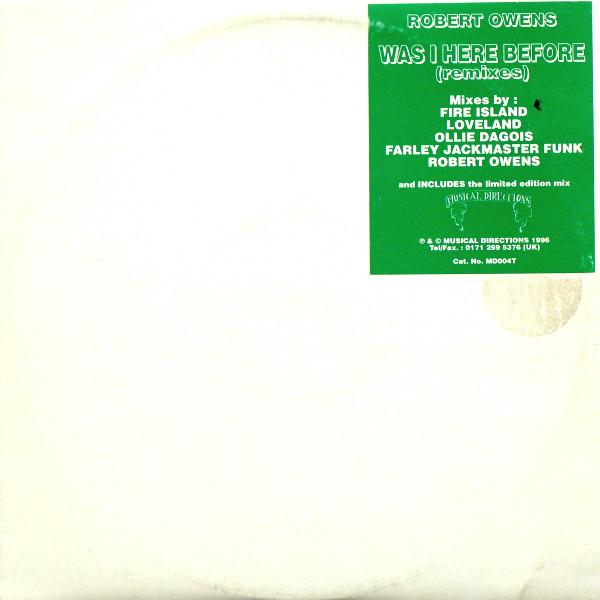 Owens, Robert Was I Here Before? (Remixes) Vinyl