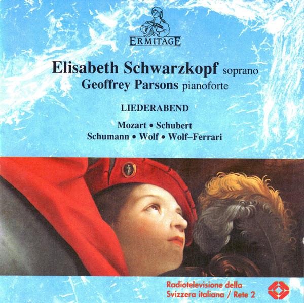 Elisabeth Schwarzkopf, Geoffrey Parsons Liederabend